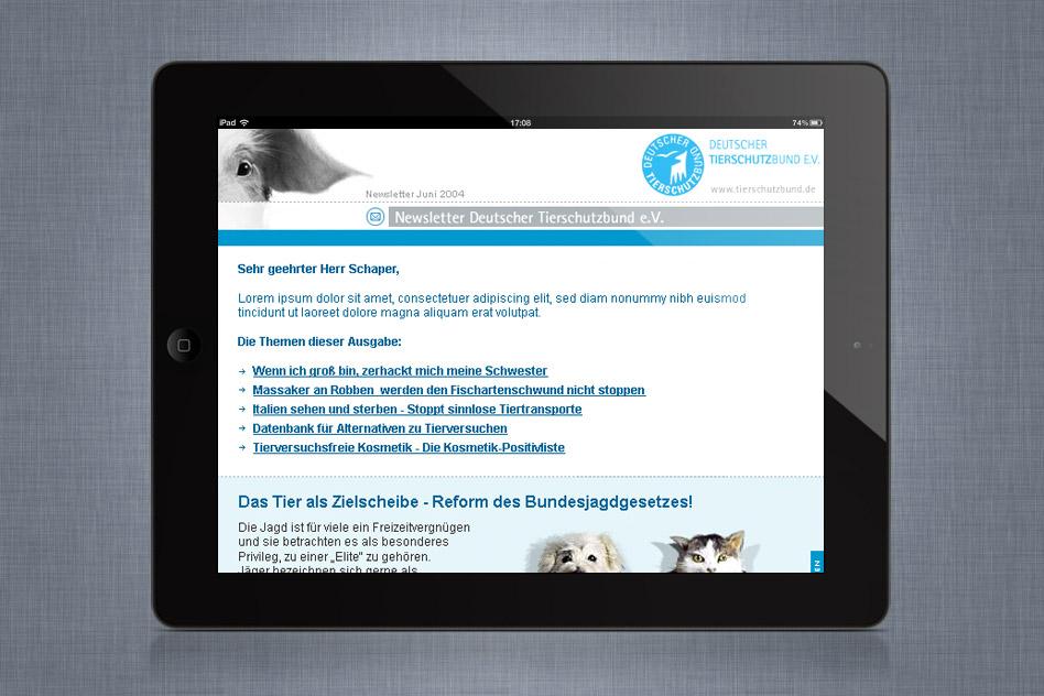 Deutscher Tierschutbund Newsletter 01