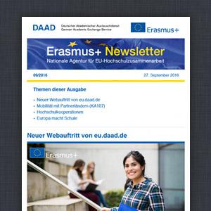 EU.DAAD.de Erasmus Newsletter