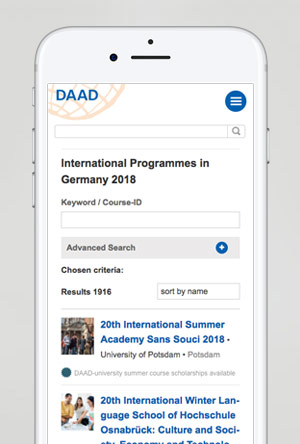 Mobiloptimierung DAAD.de Teaser