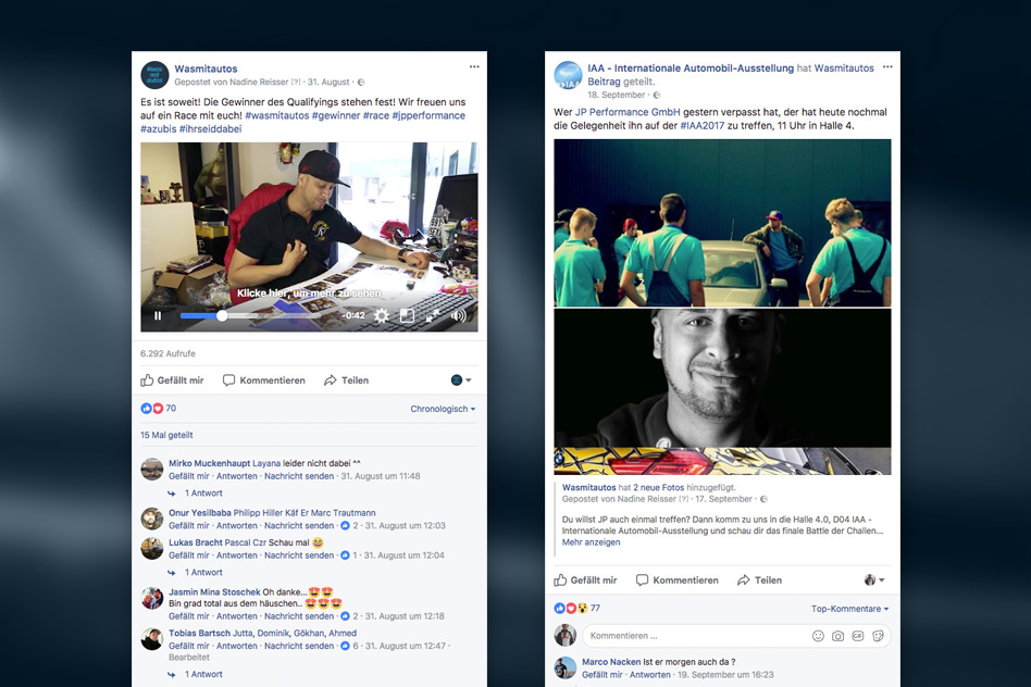 #wasmitautos Social Media Kampagne - Facebook Posts
