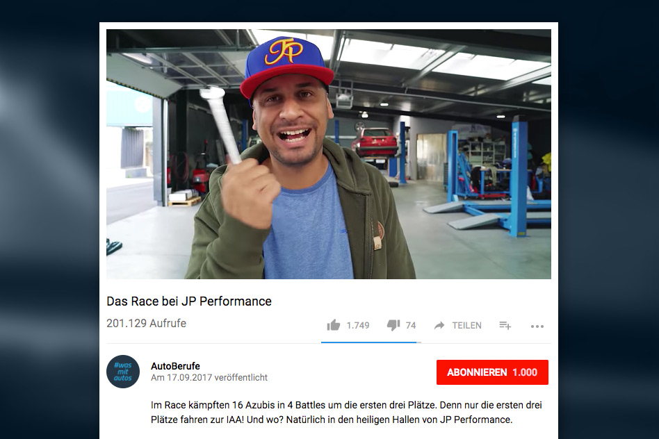 #wasmitautos Social Media Kampagne - Youtube
